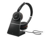 Jabra Evolve 75 MS Stereo - headset - with charging stand