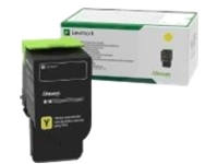 Lexmark - yellow - original - toner cartridge - LCCP, LRP, government GSA