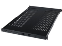 "StarTech.com 1U Adjustable Vented Server Rack Mount Shelf - 175lbs - 19.5 to 38in Deep Universal Tray for 19"" AV/ Netwo…"