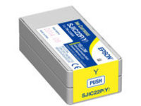 Epson SJIC22P(Y) - yellow - original - ink cartridge