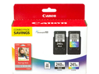 Canon PG-240XL/CL-241XL/GP-502 Combo Pack - 2-pack - XL - color (cyan, magenta, yellow), pigmented black - ink cartridg…