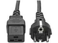 Tripp Lite 8ft 2-Prong Computer Power Cord European Cable C19 to SCHUKO CEE 7/7 Plug 16A 8' - power cable - 2.4 m