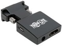 Tripp Lite HDMI to VGA Active Converter with Audio (F/M), 1920 x 1200 (1080p) @ 60 Hz - video converter - black