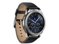 Samsung Gear S3 Classic - silver - smart watch with band - black - 4 GB - AT&T