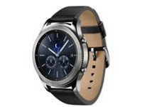 Samsung Gear S3 Classic - silver - smart watch with band - black - 4 GB - T-Mobile