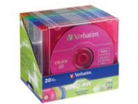 Verbatim DataLifePlus Colors - CD-RW x 20 - 700 MB - storage media