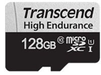 Transcend 350V - flash memory card - 128 GB - microSDXC UHS-I