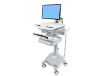 Ergotron StyleView Electric Lift Cart with LCD Arm, LiFe Powered, 1 Drawer (1x1) - cart (open architecture)