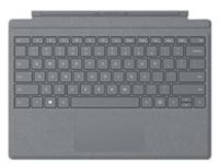 Microsoft Surface Pro Signature Type Cover - keyboard - with trackpad, accelerometer - QWERTY - US - platinum