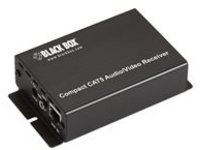 Black Box Compact CAT5 Audio/Video Receiver - video/audio extender