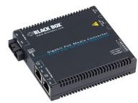 Black Box - fiber media converter - 10Mb LAN, 100Mb LAN, GigE - TAA Compliant
