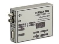 Black Box FlexPoint RS-232 to Fiber Converter - media converter - RS-232