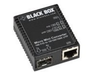 Black Box Micro Mini Media Converter - fiber media converter - 10Mb LAN, 100Mb LAN, GigE - TAA Compliant