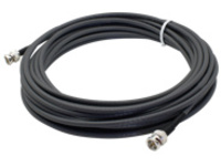 AddOn 32.81ft BNC Coaxial Black Patch Cable - network cable - 10 m - black
