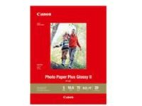 Canon Photo Paper Plus Glossy II PP-301 - photo paper - 20 sheet(s) - 216 x 280 mm - 265 g/m²
