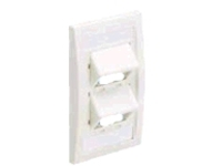 Panduit MINI-COM Sloped Executive Series Faceplate Kit - faceplate