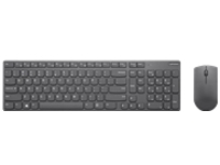 Lenovo Professional Ultraslim Combo - keyboard and mouse set - UK English - iron grey