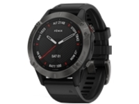 Garmin fenix 6 Sapphire - carbon gray DLC - sport watch with band - black - 32 GB