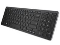 Dell KM714 - keyboard and mouse set - black with silver trim