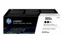 HP 202X - 2-pack - High Yield - black - original - LaserJet - toner cartridge (CF500XD)