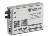 Black Box FlexPoint - fiber media converter - 10Mb LAN, 100Mb LAN