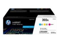 HP 202A - 3-pack - yellow, cyan, magenta - original - LaserJet - toner cartridge (CF500AM)