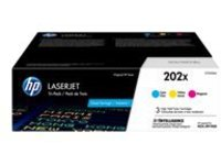HP 202X - 3-pack - High Yield - yellow, cyan, magenta - original - LaserJet - toner cartridge (CF500XM)