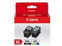 Canon PG-240XL & CL-241XL Value Pack - 2-pack - XL - black, color (cyan, magenta, yellow) - original - ink cartridge