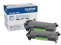 Brother TN-850 - 2-pack - High Yield - black - original - toner cartridge