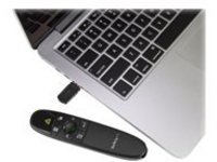 StarTech.com Wireless Presentation Remote with Green Laser Pointer - 90 ft. (27 m) - USB Presentation Clicker for Mac a…