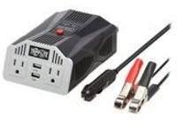 Tripp Lite Ultra-Compact Car Inverter 400W 12V DC to 120V AC 2 UBS Charging Ports 2 Outlets - DC to AC power inverter +…