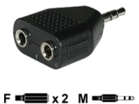 C2G 3.5mm Stereo Male to Dual 3.5mm Stereo Female Adapter - audio splitter