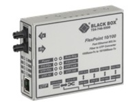 Black Box FlexPoint Modular Media Converter - fiber media converter - 10Mb LAN, 100Mb LAN - TAA Compliant