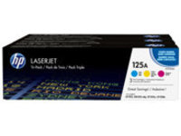 HP 125A Tri-pack - 3-pack - yellow, cyan, magenta - original - LaserJet - toner cartridge (CE259AM)