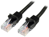StarTech.com 100ft Black Cat5e Snagless RJ45 UTP Patch Cable - 100 ft Patch Cord - Ethernet Patch Cable - RJ45 Male to …