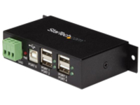 StarTech.com 4-Port Industrial USB 2.0 Hub with ESD Protection - Mountable - Multiport Hub (ST4200USBM) - hub - 4 ports