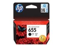 HP 655 - black - original - Ink Advantage - ink cartridge