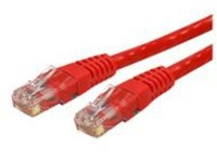 StarTech.com Cat6 Ethernet Cable - 1 ft - Red - Patch Cable - Molded Cat6 Cable - Short Network Cable - Ethernet Cord -…