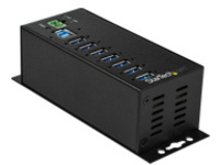 StarTech.com 7-Port Industrial USB 3.0 Hub with External Power Adapter - hub - 7 ports