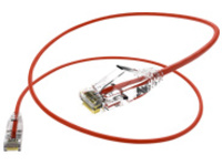 Unirise Clearfit Slim patch cable - 61 cm - red