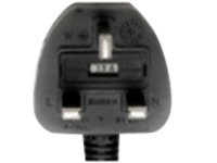 Ruckus power cable - BS 1363 to IEC 60320 C13 - 2.5 m