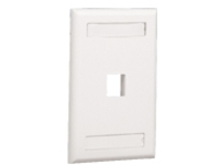 Panduit NetKey Flush Mount Screw-On Faceplates with Labeling - flush mount faceplate