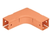 Panduit Fiber-Duct Horizontal Right Angle Fitting - cable raceway right angle fitting