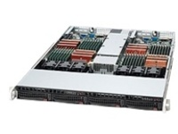Supermicro SC808 T-1200B - rack-mountable - 1U - up to 2 blades