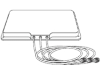 Cisco Aironet 2.4-GHz MIMO 6-dBi Patch Antenna - antenna