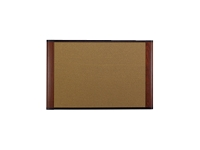 CORK BULLETIN BOARD 72X48MAHOGANY FINISH FRAME