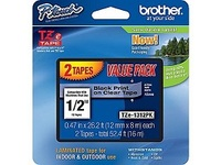Brother TZe-1312PK - laminated tape - 2 roll(s) - Roll (1.2 cm x 8 m)