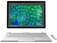 "Microsoft Surface Book - Tablet - with detachable keyboard - Core i5 6300U / 2.4 GHz - Win 10 Pro 64-bit - 8 GB RAM - 128 GB SSD - 13.5"" touchscreen 3000 x 2000 - HD Graphics 520 - Wi-Fi - silver - kbd: English - North America - commercial"